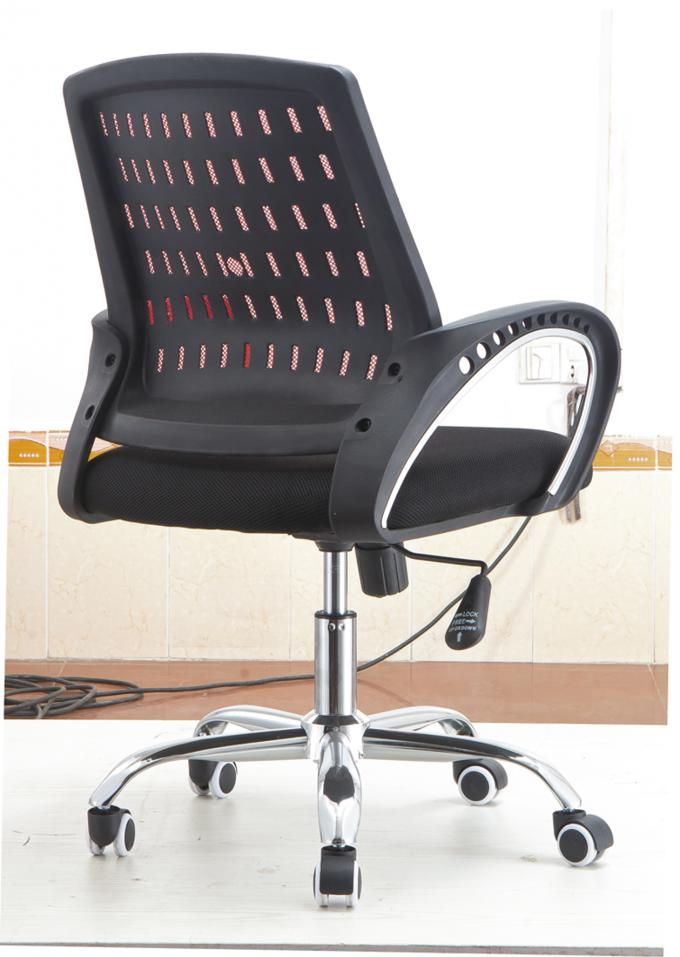 Mesh Fabric High Back Office Revolving Chair With PU Castors Multi Colored