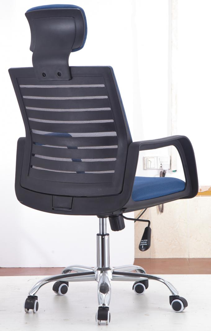Stylish Design Folding Back Office Chair , Blue Computer Desk Chairs For Home