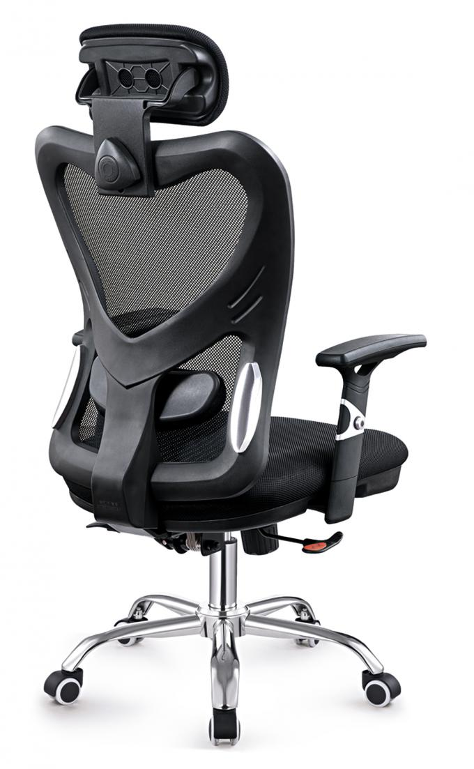Gas Lift Fabric Home Office Chair , Commercial Staff Office Chair Long Using Life