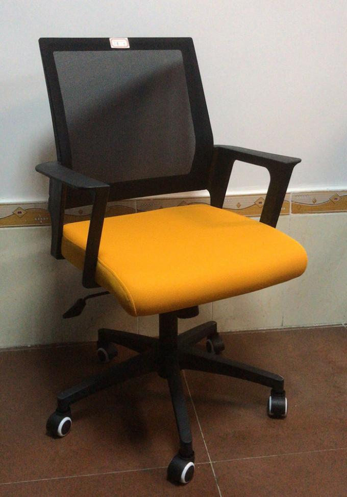 Multi Coloured Office Computer Chair With Nylon Castors Fabric With PP Cover Back