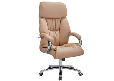 China Secretary Leather And Metal Desk Chair ,Workstation Leather Racing Office Chair supplier