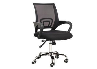 China Modern High Back Mesh Desk Chair , Chrome Foot Clerk Computer Revolving Chair supplier
