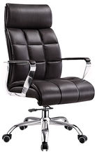 China Most Comfortable PU Leather Office Chair For Boss High Back Waterproof supplier