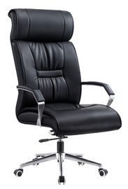 China Heavy Duty Deluxe PU Leather Office Chair With Headrest Ergonomically Designed supplier