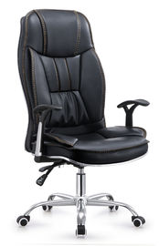 China High Back Executive Pu Leather Ergonomic Office Desk Computer Chair Black Color supplier