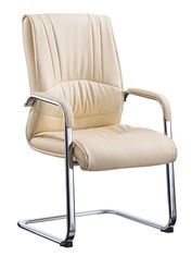 China Waiting Area Cream Office Visitor Chairs Modern Design Environmental Friendly supplier