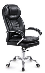 China Black Leather Executive Office Chair High Back PU / PVC Cover Eco Friendly supplier