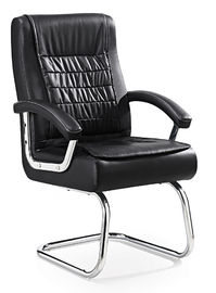 China Padded Leather Office Guest Chairs With Arms , Office Reception Room Chairs supplier