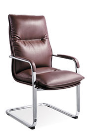 China Bvrown Leather Office Visitor Chairs With Casters Simple Design Eco Friendly supplier