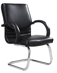 China Chrome Arm Executive Conference Room Chairs Without Casters High Durability supplier