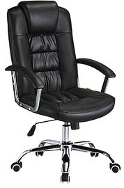 China Custom Made High Back Executive Leather Office Chair Lumbar Support Anti - Mildew supplier