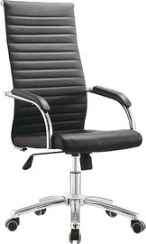 China Black Leather High Back Office Chair For Manager Anti Mildew Long Using Life supplier