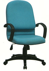China Stationary Fabric Executive Chair , High Back Cloth Office Chairs With Wheels supplier