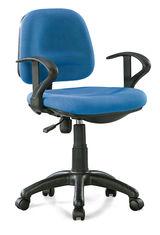 China Compact Small Fabric Office Chairs Adjustable Height Fade Proof High Tear Strength supplier