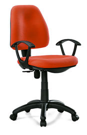 China Manager & Staff Fabric Computer Chair , Modern Orange Fabric Task Chair supplier