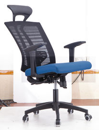 China Black And Blue Economical Office Chairs For Executive Manager Frog Mechanism supplier
