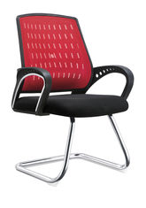China Red And Black Office Visitor Chairs For Customer High Durability Eco Friendly supplier
