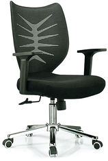 China Study Black Office Revolving Chair Fabric And Mesh Cover Customized Size supplier