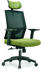 China Ergonomic High Back Mesh Office Chair , High Top Desk Chair With Head Up And Down supplier