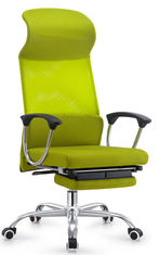 China Bright Colored Green Napping Office Chair , Reclining Computer Chair With Footrest supplier