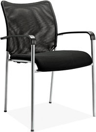 China Metal 4 Foot Economical Office Chairs , Basic Mesh Seat Computer Chair supplier