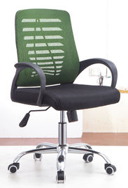 China High End Secretary Office Chairs With Chrome Foot Water Resistant PP Frame supplier