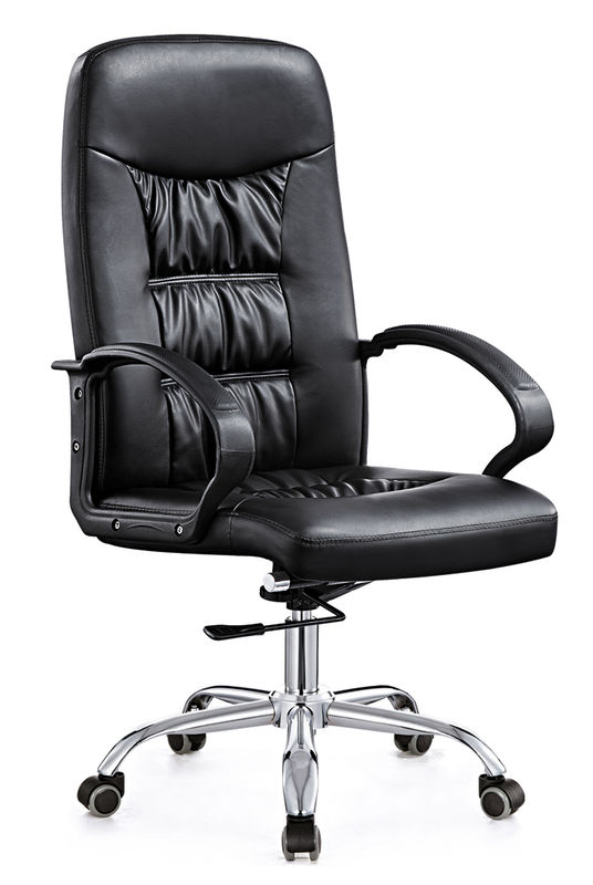 China High End Leather Rolling Desk Chair  Stationary Swivel Office Chairs With Wheels supplier  sc 1 st  Quality Office Revolving Chair u0026 Executive Office Chair Manufacturer & High End Leather Rolling Desk Chair  Stationary Swivel Office ...