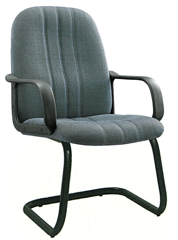 China Metal Frame Office Waiting Room Chairs Cloth Computer Chair Non Wheeled Supplier