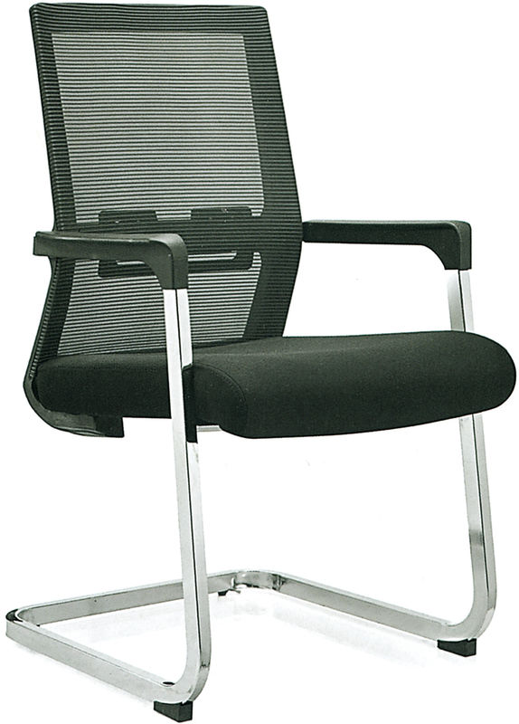 Stationary Black Mesh Office Chair No Wheels For