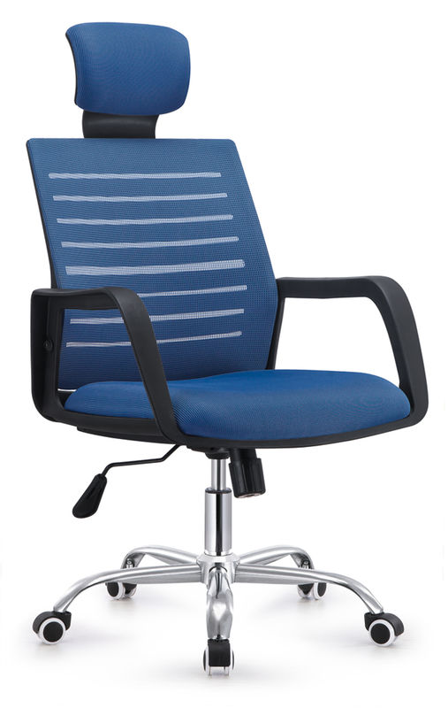 China Stylish Design Folding Back Office Chair , Blue Computer Desk Chairs  For Home Supplier