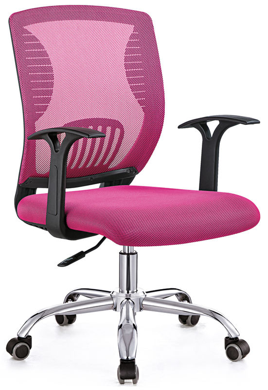China Professional Pink Comfortable Computer Chair , Ergonomic Padded Desk  Chair Supplier