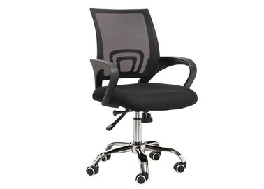 Modern High Back Mesh Desk Chair , Chrome Foot Clerk Computer Revolving Chair