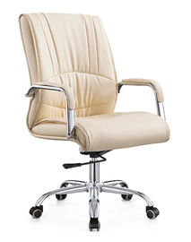 China Trendy Executive Style Spinning Desk Chair , Mid Back Leather Office Chair factory