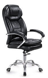 Black Leather Executive Office Chair High Back PU / PVC Cover Eco Friendly