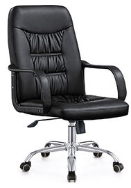 Luxury Ergo Spinning Office Chair , Adjustable Leather Padded Office Chair