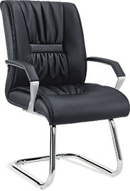 Pu Leather Non Rolling Office Visitor Chairs For Waiting Room Anti Mildew