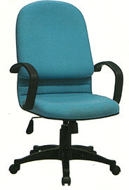 Stationary Fabric Executive Chair , High Back Cloth Office Chairs With Wheels