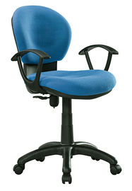 Blue / Black Office Typist Chairs , Breathable Fabric Swivel Desk Chair