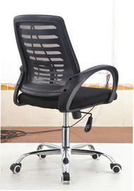 China Black Basic Desk Chair , Ergonomic Mesh Office Chair Adjustable Arms Headrest factory